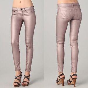 Rag & Bone Rose metallic legging, Size 28